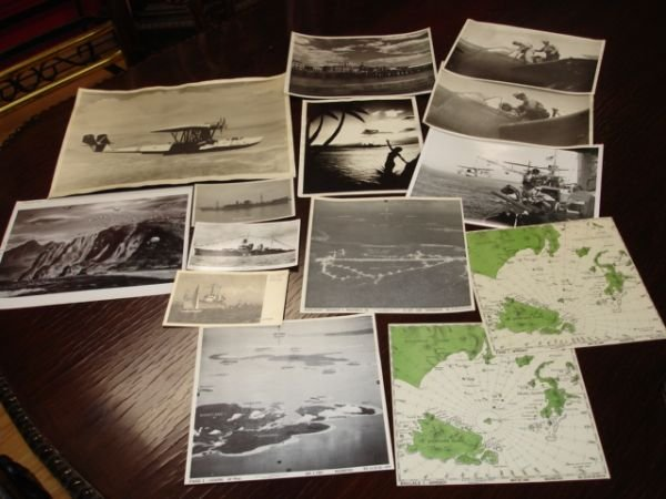 10268: WWII US NAVY PHOTO LOT AVIATION PT BOAT SUBS LOT