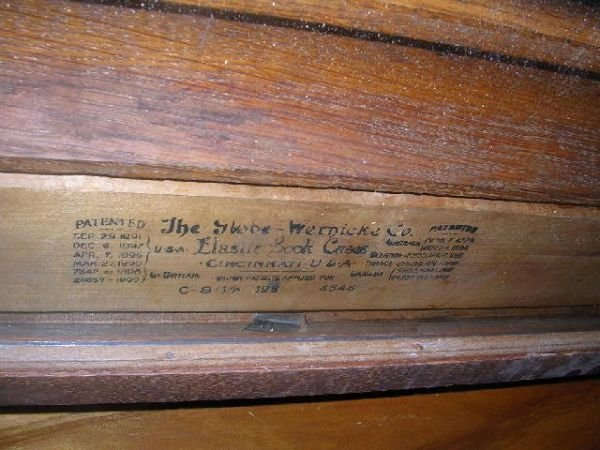 10460: ANTIQUE BARRISTER BOOKCASE THREE SECTION OAK - 4