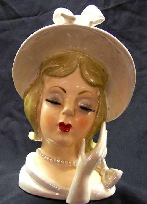10469 Lefton Vintage Lady Head Vase Blonde 825 2426 On Liveauctioneers