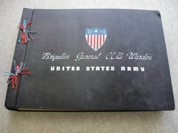 2: GENERAL CCB WARDEN US ARMY PHOTO ALBUM LARGE CAREER