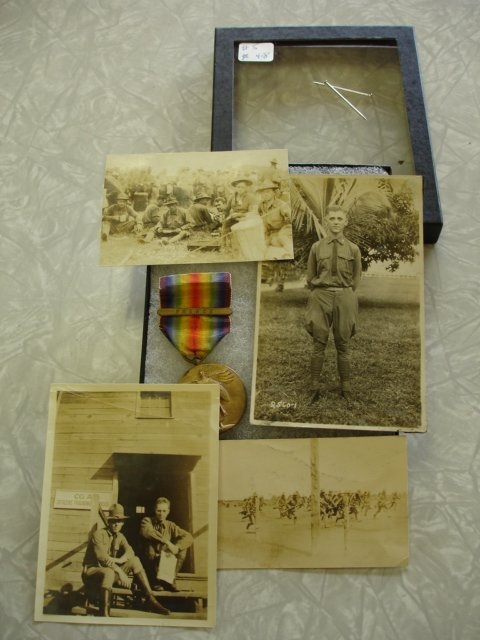 5: WWI US ARMY VICTORY MEDAL W BAR & PHOTO LOT AS WE GO