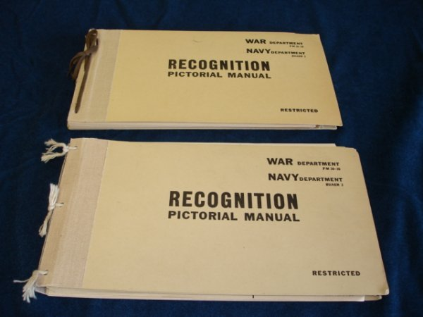 6: WWII US ARMY NAVY AIRCRAFT RECOGNITION MANUAL LOT US