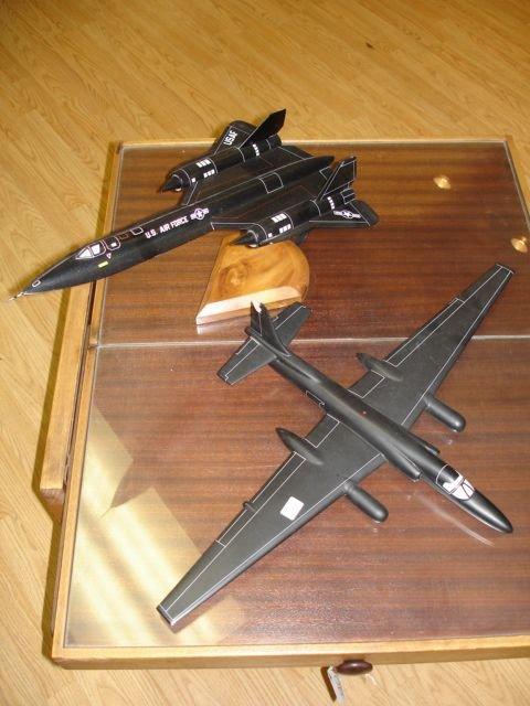 18: SR22 BLACKBIRD US AIRFORCE U-2 SPYPLANE MODEL ON ST