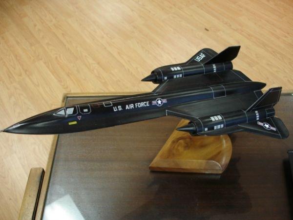 18: SR22 BLACKBIRD US AIRFORCE U-2 SPYPLANE MODEL ON ST - 2