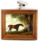 """20TH CENTURY EQUESTRIAN PAINTING SIGNED """"SHIPLEY"""""""