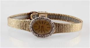 ARMITRON VINTAGE GOLD AND DIAMONDS LADIES WATCH