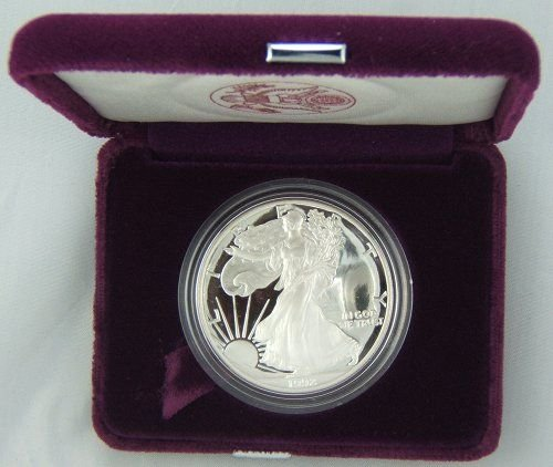 27: 1992-S SILVER EAGLE PROOF IN ORIGINAL US MINT BOX