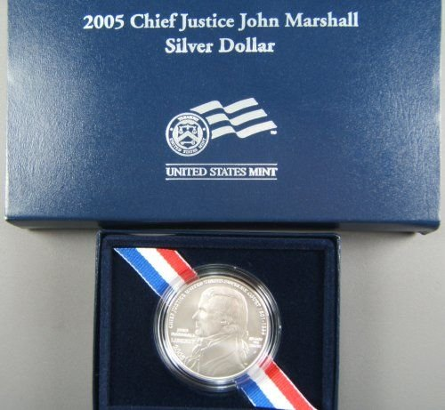 37: US MINT 2005 CHIEF JUSTICE JOHN MARSHALL SILVER
