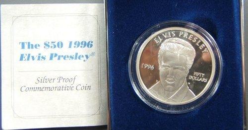 63: 1996 ELVIS PRESLEY $50 SILVER PROOF COMMEMORATI