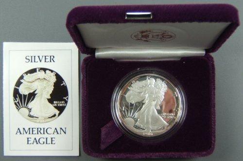 38: 1986 S SILVER EAGLE PROOF IN ORIGINAL US MINT BOX