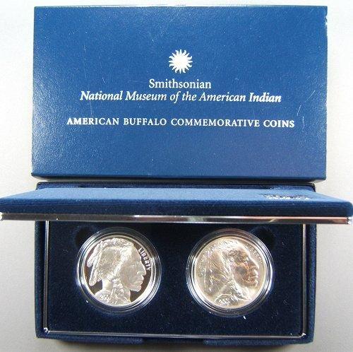 40: US MINT 2001 COMMEM AMERICAN BUFFALO 2 COIN SET