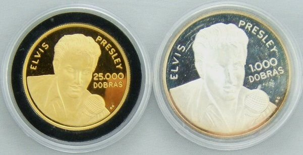 64: 1993 ELVIS PRESLEY GOLD AND SILVER COIN LOT OF 2