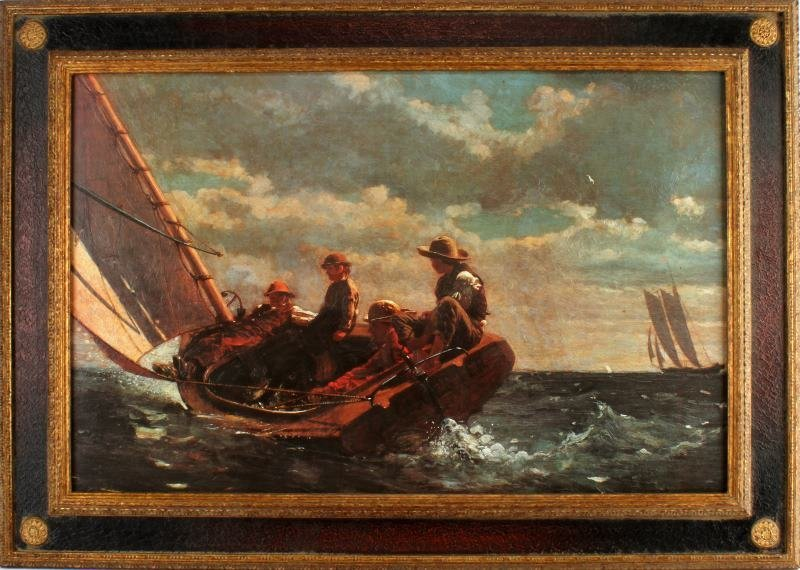 WINSLOW HOMER BREEZING UP LIMITED EDITION PRINT