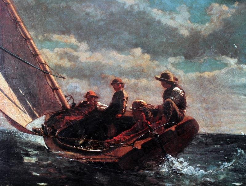 WINSLOW HOMER BREEZING UP LIMITED EDITION PRINT - 2