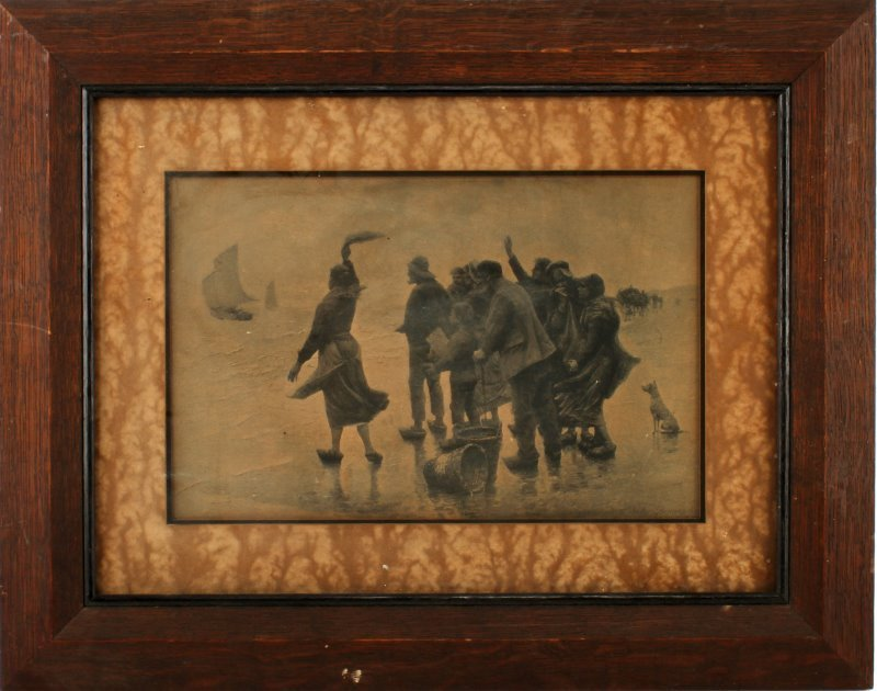 JULES DENNEULIN PRINT TITLED THE DEPARTURE FRAMED