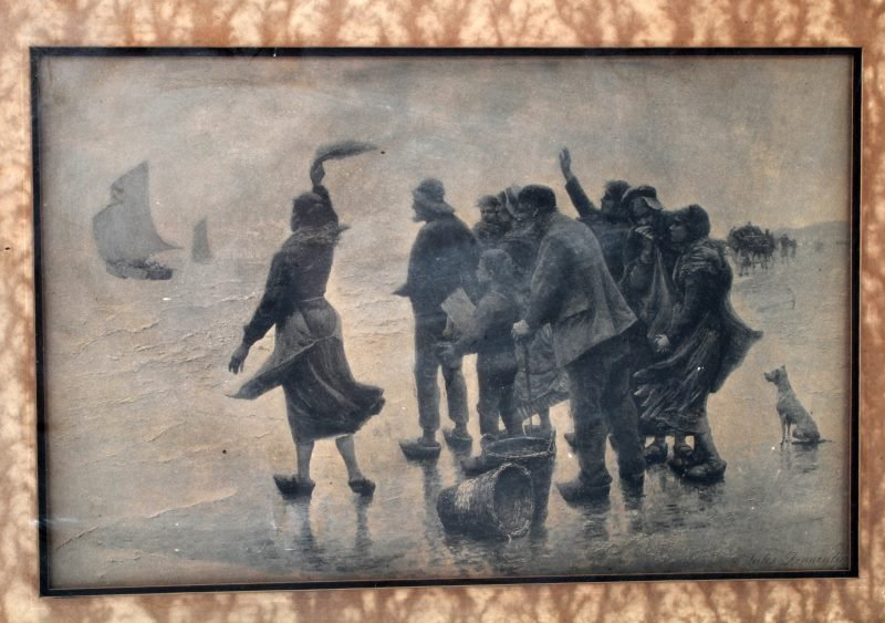 JULES DENNEULIN PRINT TITLED THE DEPARTURE FRAMED - 2