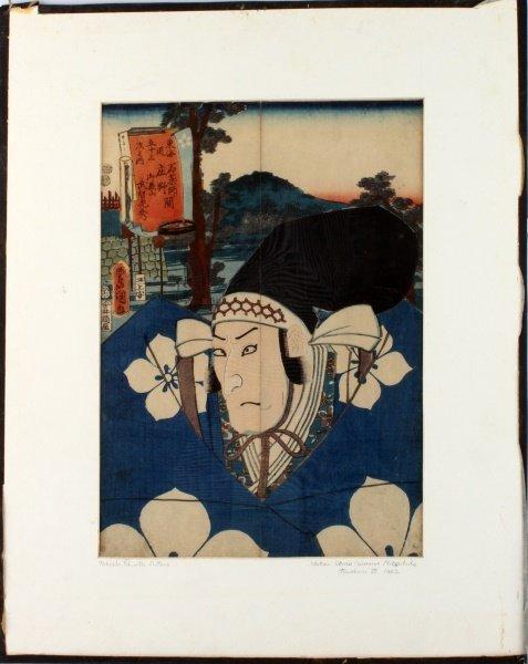 KUNISADA (JAPANESE, 1786-1865) ACTOR WOODBLOCK