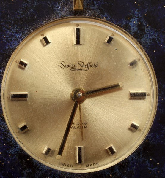 SWIZA SHEFFIELD 8-DAY ALARM CLOCK LAPIZ LAZULI - 2