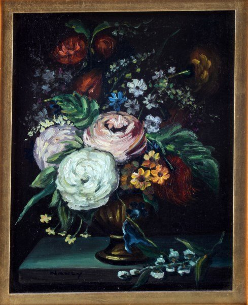 OIL ON CANVAS OLD MASTER STYLE STILL LIFE SIGNED