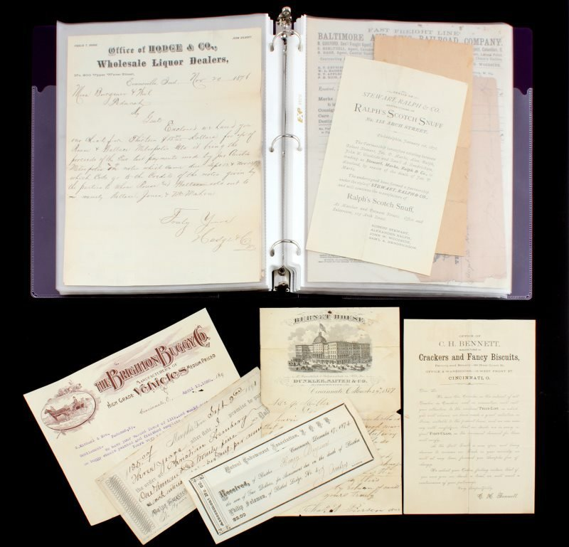 19TH CENTURY COLLECTION OF MERCHANT LETTERS & RECT