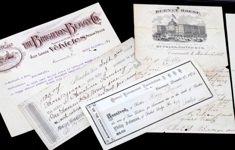 19TH CENTURY COLLECTION OF MERCHANT LETTERS & RECT - 2