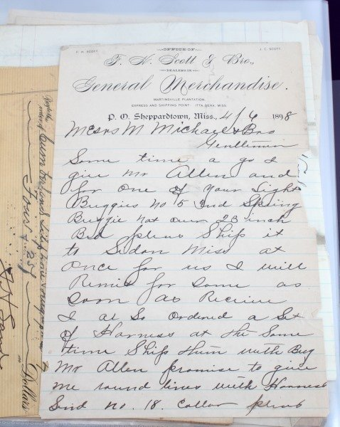 19TH CENTURY COLLECTION OF MERCHANT LETTERS & RECT - 7