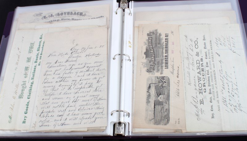 19TH CENTURY COLLECTION OF MERCHANT LETTERS & RECT - 9