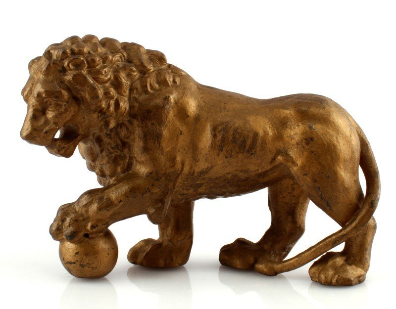 SMALL BRONZE MEDICI LION SCULPTURE