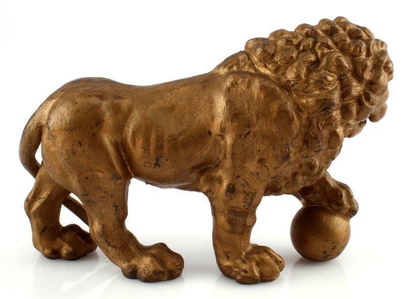 SMALL BRONZE MEDICI LION SCULPTURE - 2