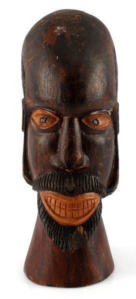 VINTAGE JAMAICA FOLK CARVED BEARDED MAN