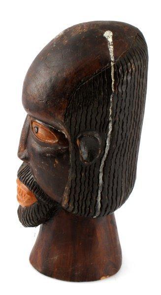 VINTAGE JAMAICA FOLK CARVED BEARDED MAN - 4