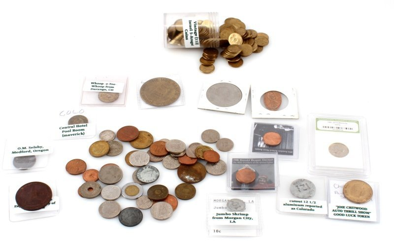 LOT OF ECLECTIC ASSORTED INTERNATIONAL & U.S COINS