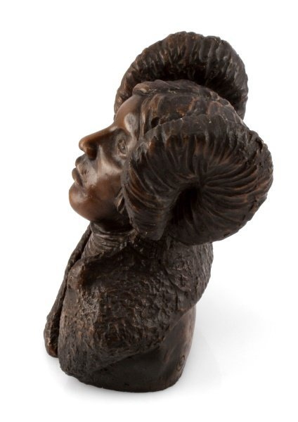 BONDED BRONZE BUST OF NATIVE AMERICAN WOMEN - 3