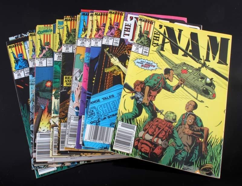 "LOT OF 16 SCARCE MARVEL COMIC BOOKS ""THE NAM"""