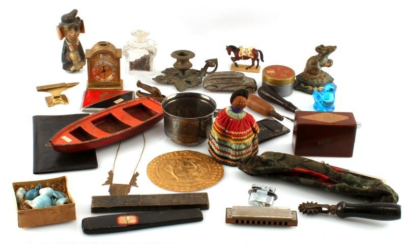 MIXED VINTAGE AND ANTIQUE GRAB BAG TOOLS TOYS ETC