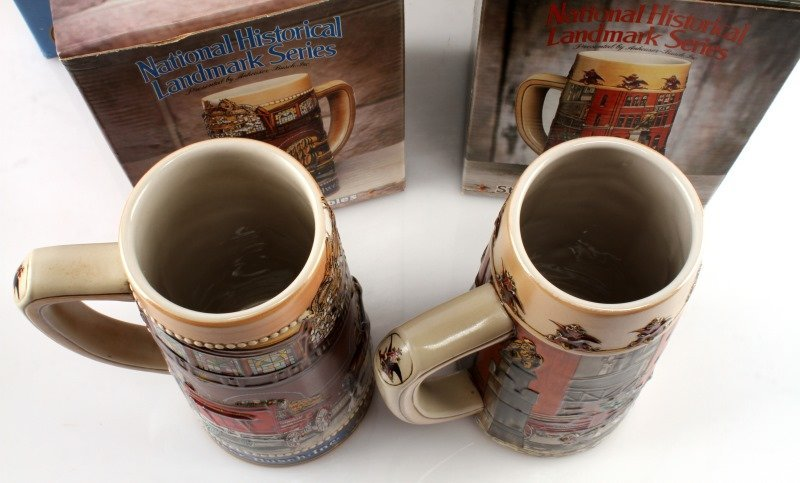 5 BUDWEISER STEINS INCLUDING OLYMPIC ONE & MORE - 3