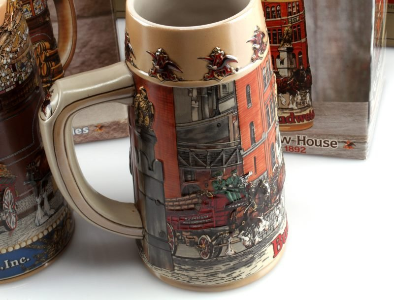 5 BUDWEISER STEINS INCLUDING OLYMPIC ONE & MORE - 4