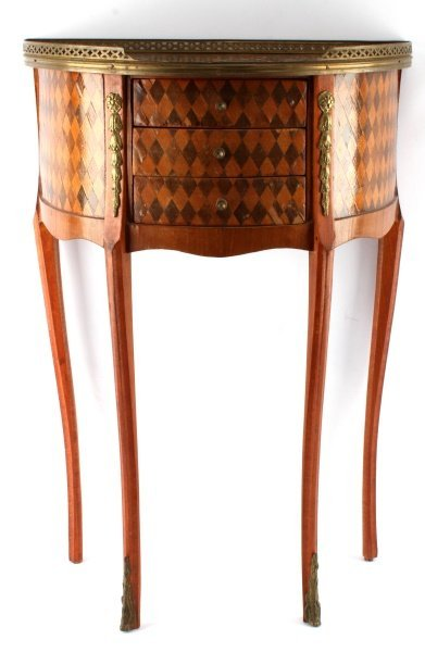 LOUIS XV STYLE HALF MOON WINE TABLE CONSOLE