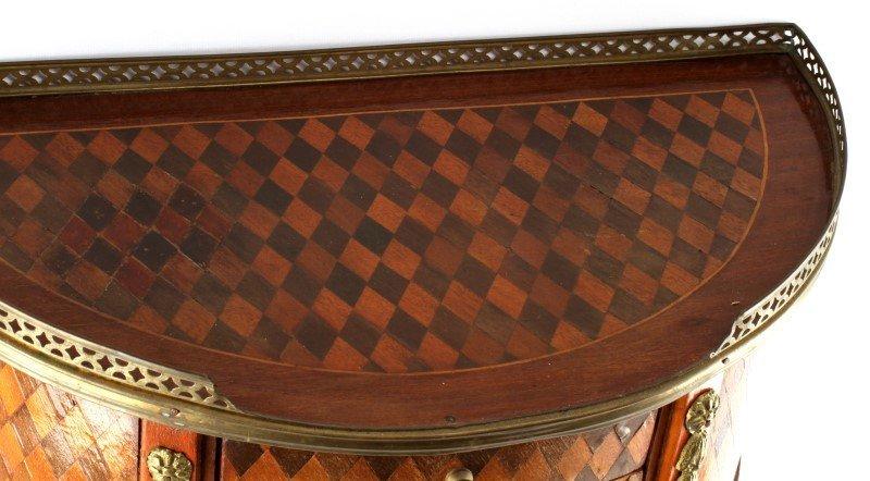 LOUIS XV STYLE HALF MOON WINE TABLE CONSOLE - 4