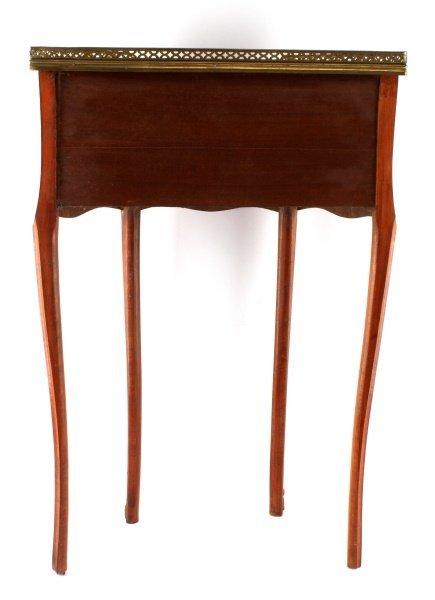 LOUIS XV STYLE HALF MOON WINE TABLE CONSOLE - 6