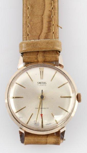 1960S SMITHS JEWELED MEN'S DRESS WRIST WATCH - 2