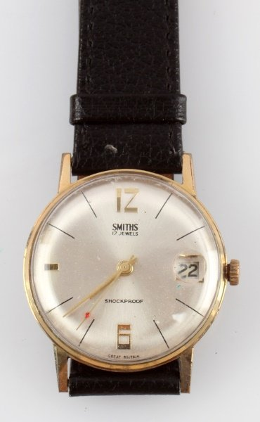 1960S SMITHS 17 JEWEL MEN'S DATE WRIST WATCH - 2