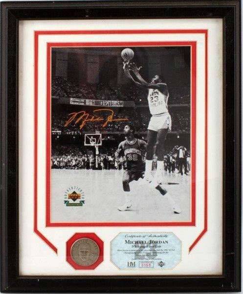 MICHEAL JORDON 1982 NCAA CHAMPIONSHIP SIGNED PHOTO