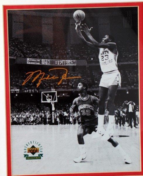 MICHEAL JORDON 1982 NCAA CHAMPIONSHIP SIGNED PHOTO - 2