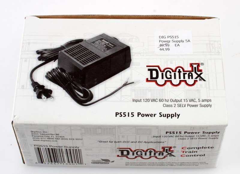 DIGITRAX PS515 POWER SUPPLY NIB NEW IN BOX