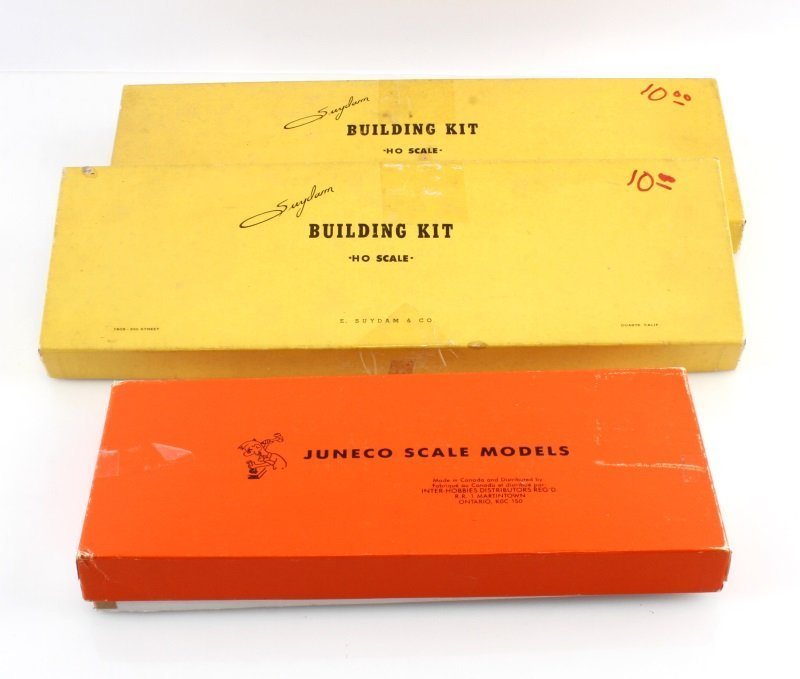 LOT OF 3 BUILDING KITS JUNECO K-19 SUYDAM HO SCALE