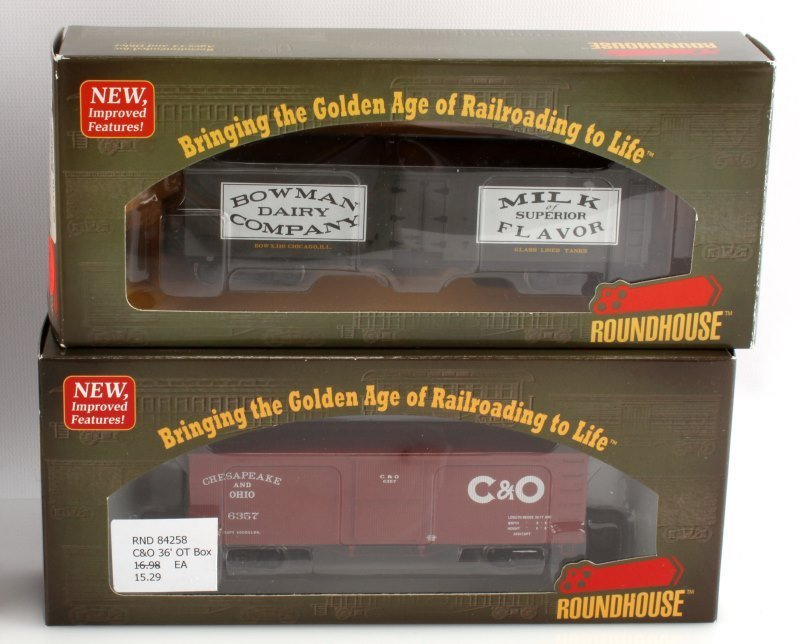 10 PIECE LOT OF ROUNDHOUSE HO SCALE NEW TRAIN CARS - 3