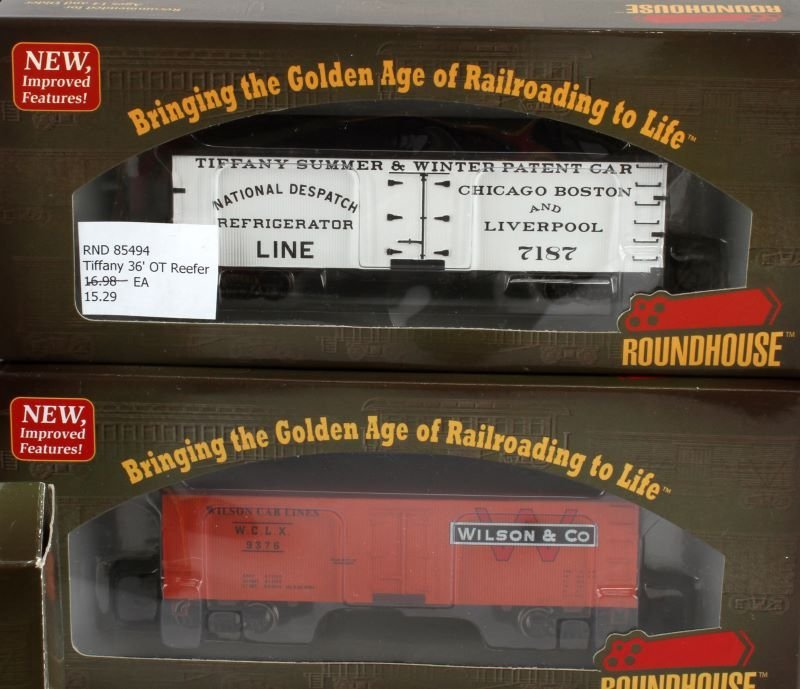 10 PIECE LOT OF ROUNDHOUSE HO SCALE NEW TRAIN CARS - 4