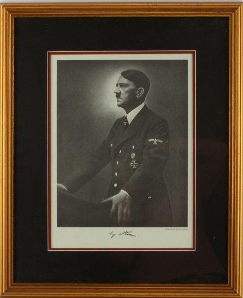 WWII THIRD REICH HEINRICH HOFFMAN HITLER PRINT