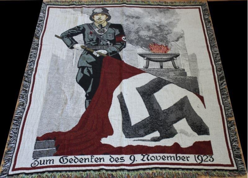 WWII GERMAN BEER HALL PUTSCH MEMORIAL TAPESTRY
